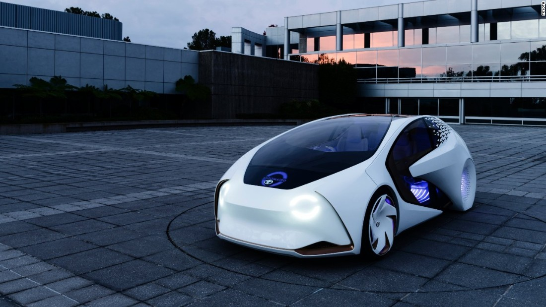 Unveiled at tech show CES 2017, Toyota's super intelligent car will be tested on the streets of Japan in the next few years. While the car has autonomous driving features, it still needs a human in the driving seat. Its built-in artificial intelligence is designed to grow with the driver.<br /> <br />The front of the vehicle displays whether the Concept-i is in automated or manual drive. The rear of the vehicle shows messages to let trailing cars know about upcoming turns ...<br />