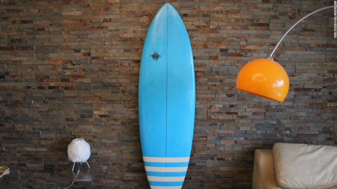 Since beginning his business, P.A. Surfboards, in 2010, Abbas has made over 100 surfboards.