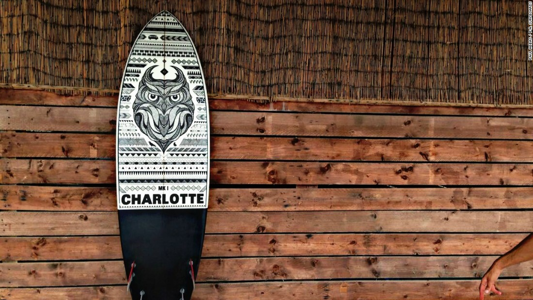 90% of Abbas' surfboards are custom made.