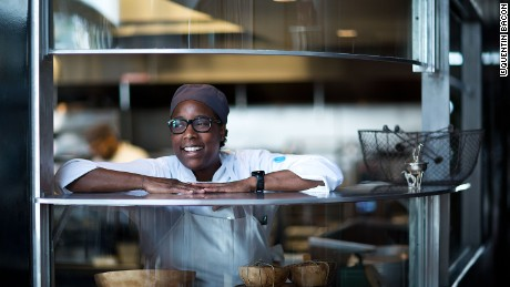 Chef Mashama Bailey Portrait for The Grey Restaurant 2015