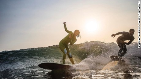 Surfing has become increasingly popular among Lebanese locals.