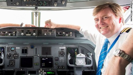 dutch king willem alexander pilot