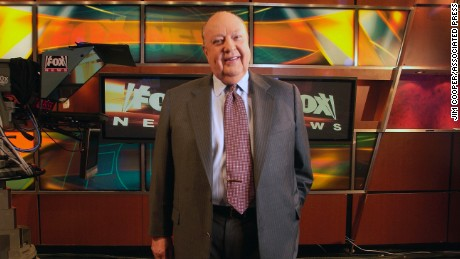 Roger Ailes poses at a Fox News studio in 2006 in New York.