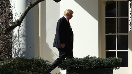 WASHINGTON, DC - FEBRUARY 24:  U.S. President Donald Trump walks to the Oval Office after arriving back at the White House, on February 24, 2017 in Washington, DC. President Trump made the short trip to National Harbor in Maryland to speak at CPAC, the Conservative Political Action Conference.  (Photo by Mark Wilson/Getty Images)