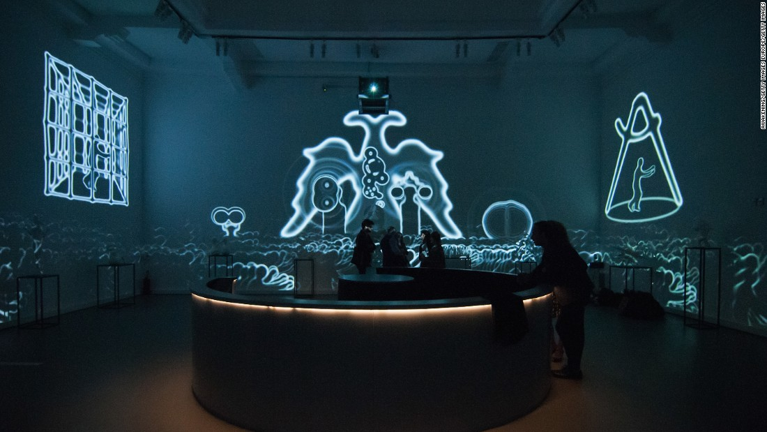 "The Russian Pavilion presented ""Theatrum Orbis"", which imagines a dystopian future, by visual artists and sculptors <a href=""http://www.marlboroughgallery.com/galleries/graphics/artists/grisha-bruskin/graphics"" target=""_blank"">Grisha Bruskin</a>, <a href=""http://recycleartgroup.com/"" target=""_blank"">Recycle Group</a> and <a href=""http://pirogovasasha.com/"" target=""_blank"">Sasha Pirogova</a>."