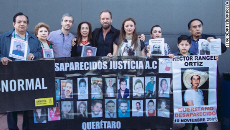 Sting with relatives of the 43 students disappeared in Ayotzinapa, México