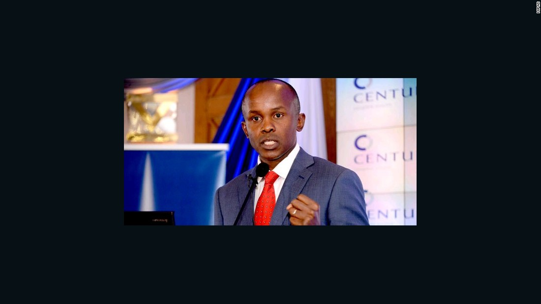 James Mworia is a Kenyan lawyer, accountant, and business executive. He is the managing director and CEO of Centum Investments.