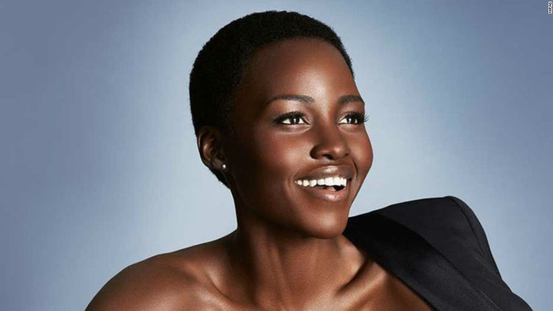 Lupita Nyong'o is a Kenyan actress. She earned her first Academy Award for her featured film debut in 12 Years a Slave, where she became the first Kenyan actress to win the award.