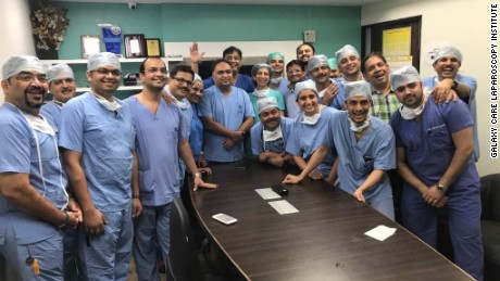 The Indian surgical team were led by Dr. Shailesh Puntambekar.