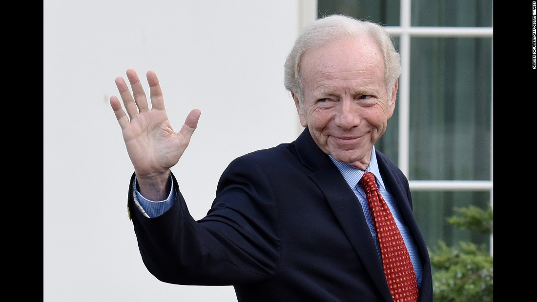"US Sen. Joe Lieberman leaves the White House after meeting with Trump on Wednesday, May 17. The President said Lieberman <a href=""http://www.cnn.com/2017/05/18/politics/joe-lieberman-fbi-front-runner/index.html"" target=""_blank"">is one of four top picks</a> to be nominated as FBI director."