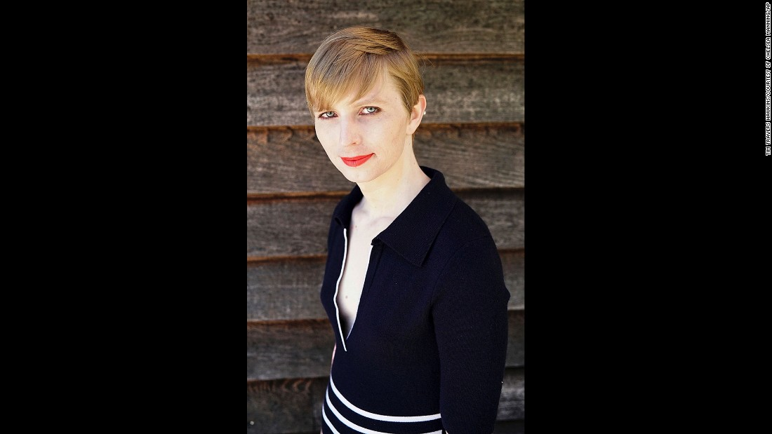 "US Army Pvt. Chelsea Manning <a href=""http://www.cnn.com/2017/05/18/politics/chelsea-manning-instagram/"" target=""_blank"">posted this self-portrait to her Instagram account</a> on Thursday, May 18. Manning, the transgender soldier formerly known as Bradley Manning, revealed her new look after <a href=""http://www.cnn.com/2017/05/17/politics/chelsea-manning-release/"" target=""_blank"">being freed from a military prison in Kansas.</a> Manning was convicted in 2013 of stealing classified documents and videos and giving them to WikiLeaks. She was sentenced to 35 years in prison, but President Barack Obama commuted her sentence in January."