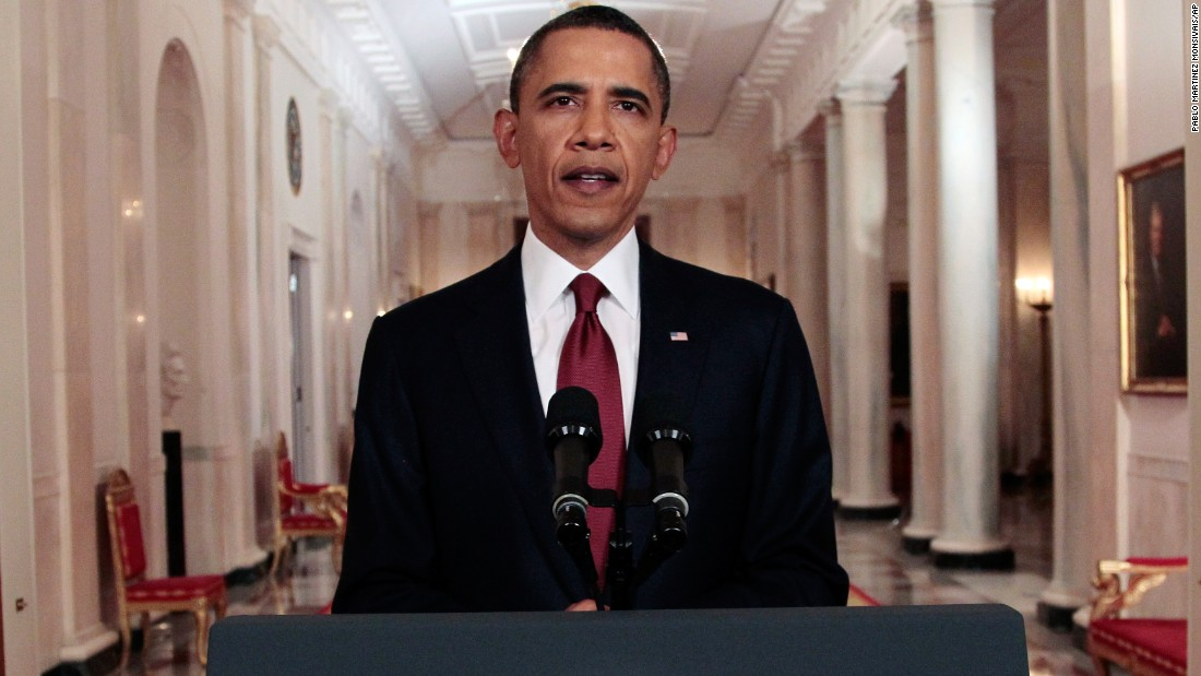 Obama announces the death of bin Laden on May 1, 2011.
