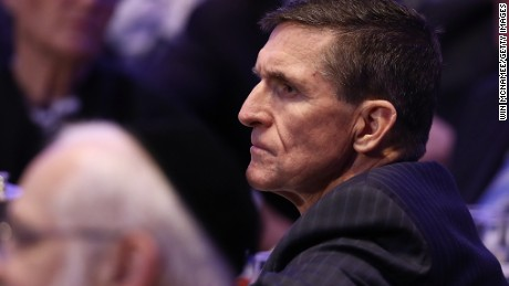 WASHINGTON, DC: National Security Adviser Michael Flynn listens to remarks at the National Prayer Breakfast where U.S. President Donald Trump spoke February 2, 2017 in Washington, DC. (Win McNamee/Getty Images)