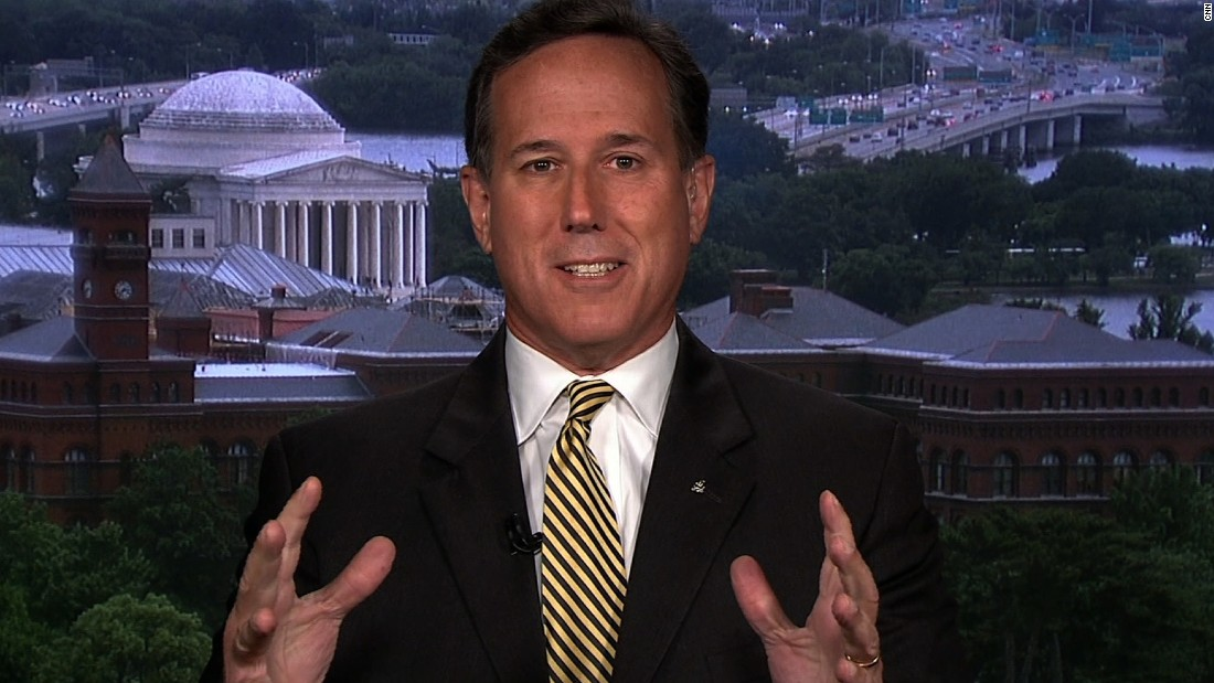 "Former Republican Sen. Rick Santorum says the GOP is nowhere near supporting impeachment but warns President Trump that ""this can't continue"" for much longer."