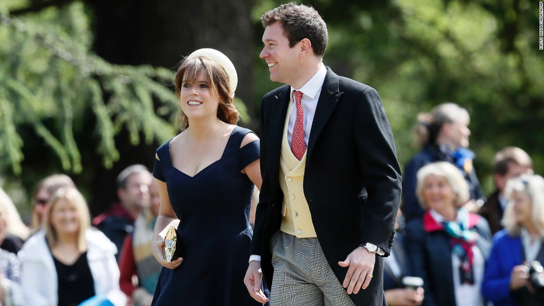 Princess Eugenie and Jack Brooksbank arrive for the wedding.