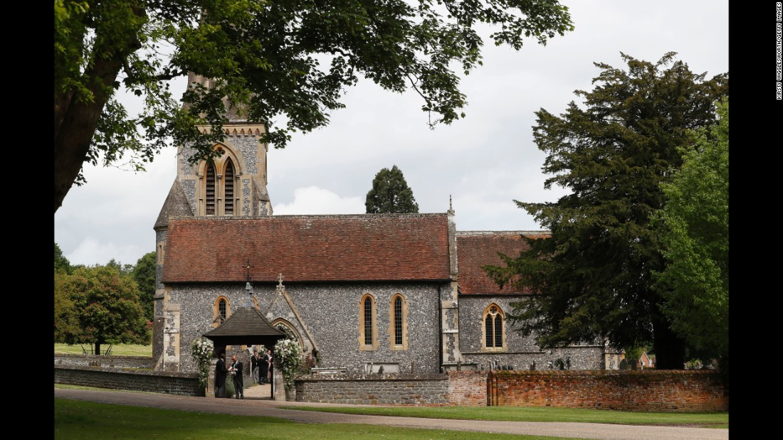 St. Mark's Church in Englefield, England, was the venue for the ceremony.