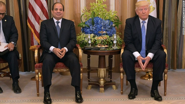 Trump and al-Sisi trade compliments