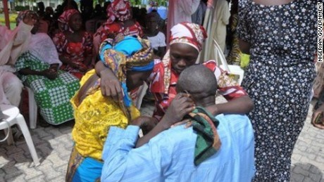 82 rescued Chibok girls reunite with families