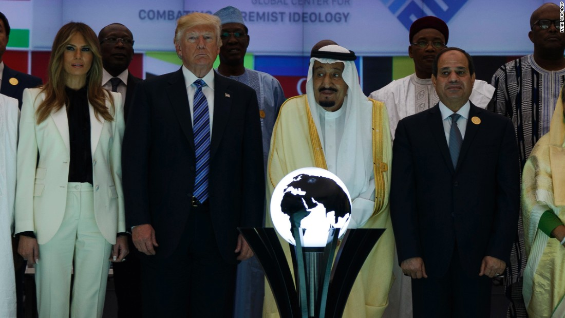 Trump Touches Orb In Saudi Lights Up Internet
