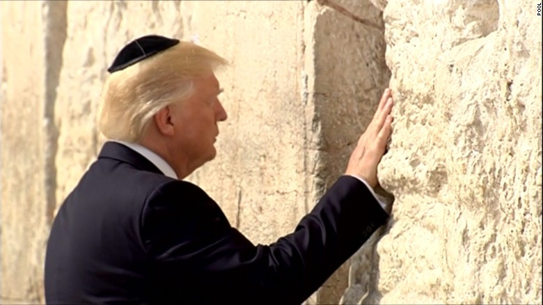 President Trump visits the Western Wall