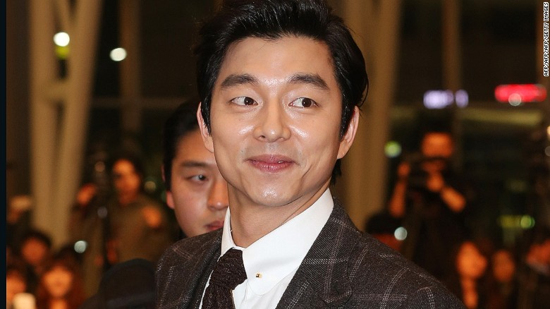 """South Korean actor Gong Yoo at the premiere of """"The Suspect"""" in Seoul."""