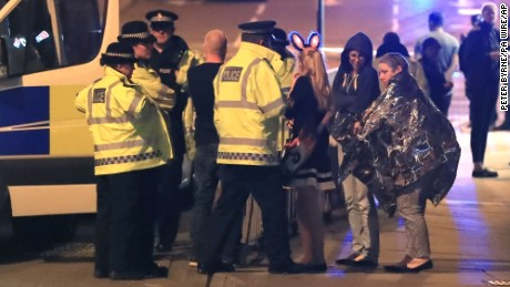 Manchester Arena incident. Emergency services at Manchester Arena after reports of an explosion at the venue during an Ariana Grande gig. Picture date: Tuesday May 23, 2017. See PA story POLICE Explosion. Photo credit should read: Peter Byrne/PA Wire URN:31415965
