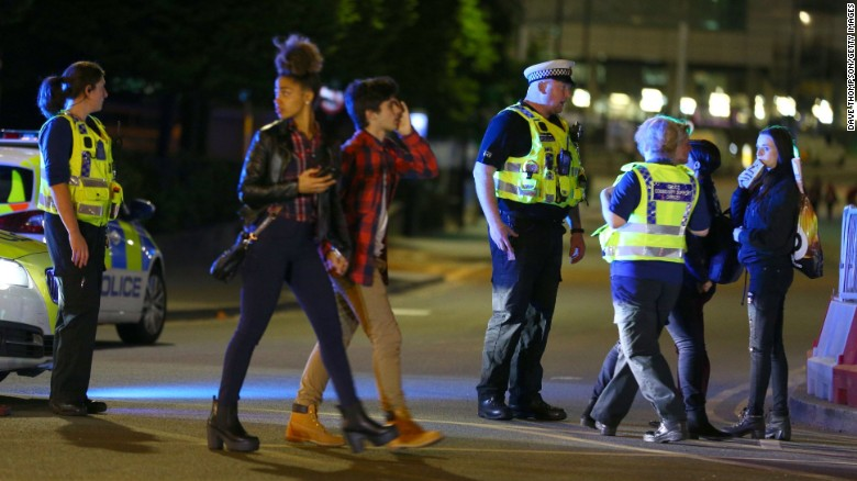 Watch the aftermath of the Manchester explosion
