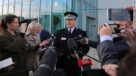 Manchester Arena incident. Greater Manchester Police chief constable Ian Hopkins speaks to the media in Manchester where he said that the death toll from the Manchester bomb attack has risen to 22 with 59 injured. Picture date: Tuesday May 23, 2017. See PA story POLICE Explosion. Photo credit should read: Peter Byrne/PA Wire URN:31417855