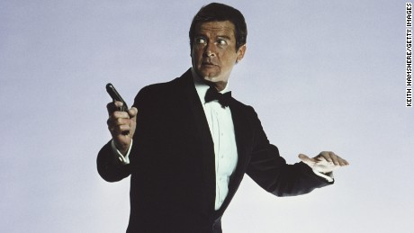 Roger Moore stars as 007 in the James Bond film 'For Your Eyes Only', March 1981. (Photo by Keith Hamshere/Getty Images)