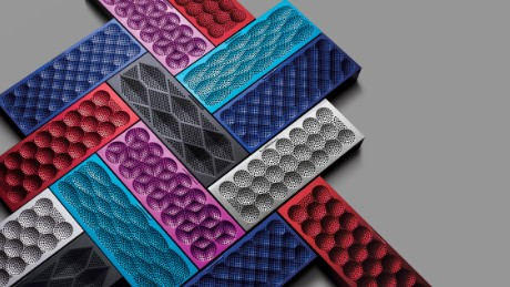 Mini Jambox wireless speaker, designed by Fuseproject for Jawbone