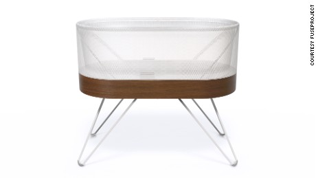 Snoo self-rocking crib, designed by Yves Behar