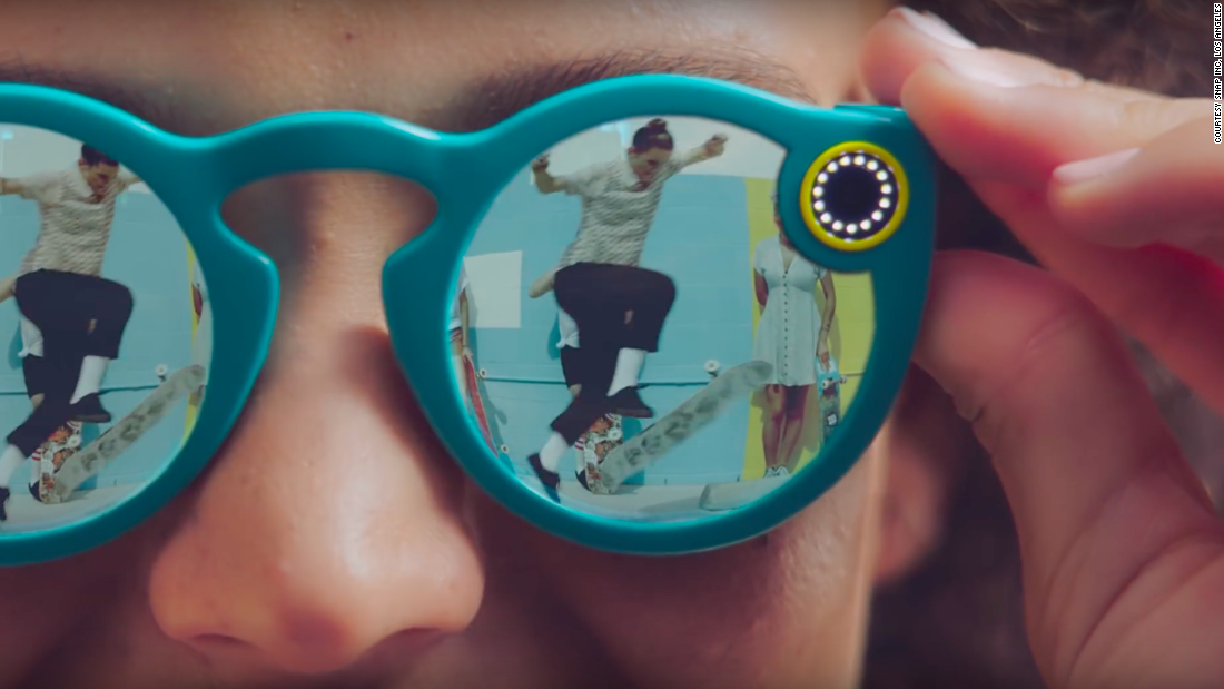 """These are basically a camera embedded in glasses which allows you to make short videos which you can automatically upload to Snapchat. It makes it a natural part of your life as opposed to something you are choosing to do. We are presenting it as the next chapter in social media and sharing."""