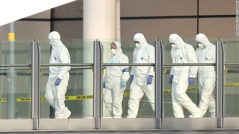 "A forensics team works at the scene of <a href=""http://www.cnn.com/2017/05/22/europe/manchester-arena-incident/index.html"" target=""_blank"">a deadly explosion</a> that took place as people were leaving an Ariana Grande concert in Manchester, England, on Monday, May 22. Police say a man carrying explosives <a href=""http://www.cnn.com/2017/05/23/europe/manchester-terror-attack-uk/index.html"" target=""_blank"">acted as a lone attacker</a> and died in the blast."