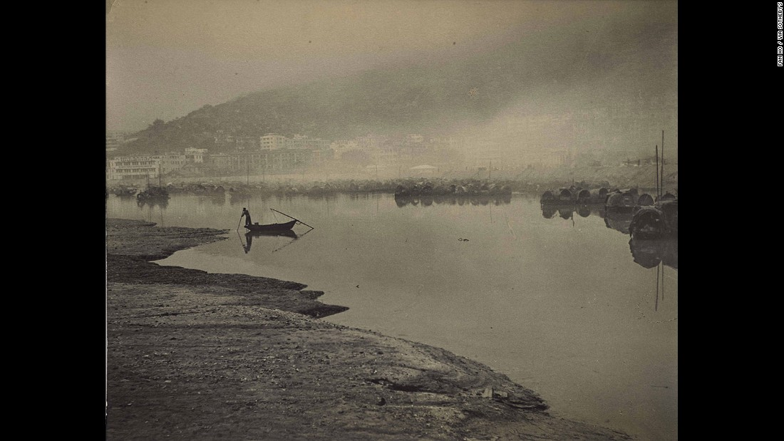 Fan Ho captures daybreak at Causeway Bay, on the south of Hong Kong Island.