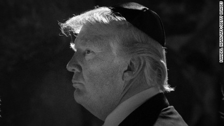 US President Donald Trump visits the Yad Vashem holocaust memorial on May 23, 2017 in Jerusalem.