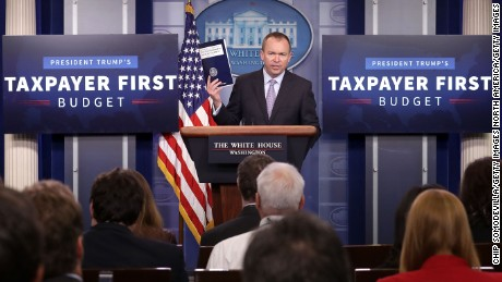 WASHINGTON, DC - MAY 23:  Office of Management and Budget Director Mick Mulvaney holds a news conference to discuss the Trump Administration's proposed FY2017 federal budget in the Brady Press Briefing Room at the White House May 23, 2017 in Washington, DC.