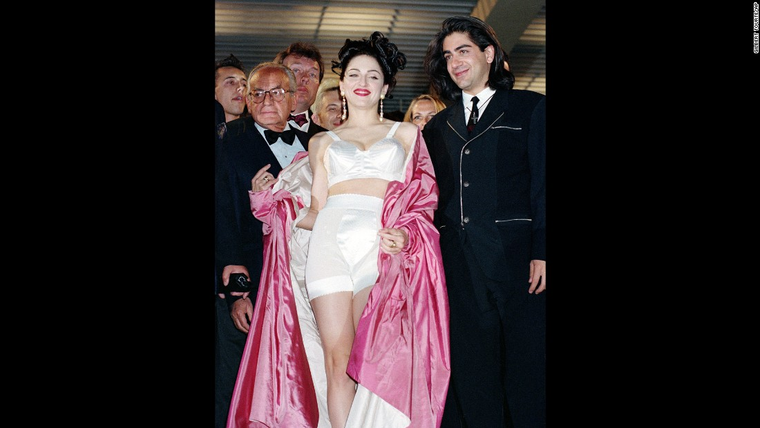 "In 1991 Cannes festival featured ""In Bed With Madonna,"" a documentary following the singer's Blond Ambition World Tour, which included cameos from many within the film world. Arriving for the gala screening, she broke all kinds of red carpet rules with a silk conical bra by Jean-Paul Gaultier."