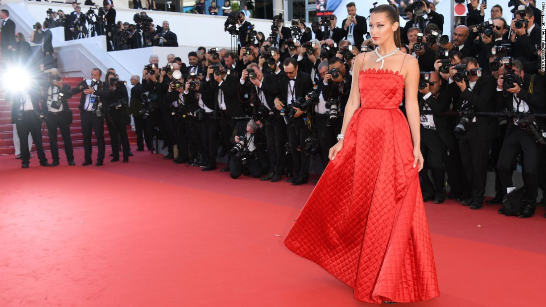 Showing that the Cannes red carpet is not merely the preserve of actors. Model Bella Hadid provided one of the stand-out moments this year. Pictured here in Dior, Hadid walked the carpet multiple times in connection with Chopard's 20th anniversary as festival sponsor.