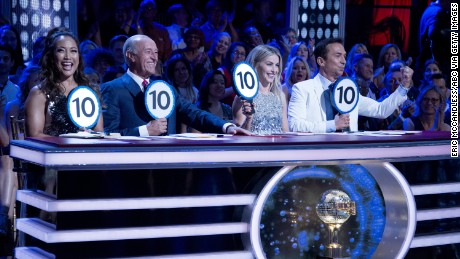 Judges Carrie Ann Inaba, Len Goodman, Julianne Hough and Bruno Tonioli.