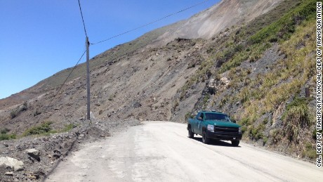 Massive slide covers stretch of iconic California highway