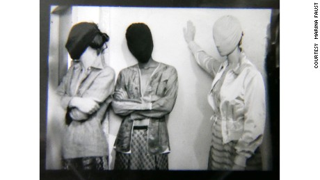Backstage at Maison Martin Margiela Spring-Summer 1996