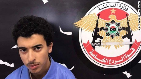Hashim Ramadan Abu Qassem al-Abedi, a brother of Manchester bomber Salman Abedi was arrested in Tripoli, Libya, May 23.