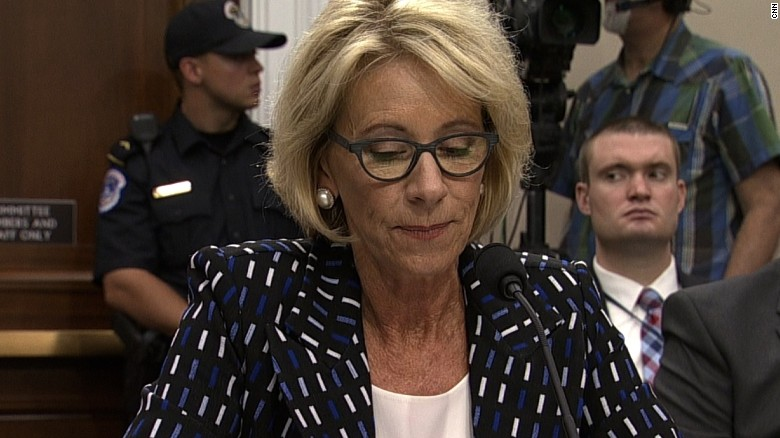 DeVos grilled on private school funding