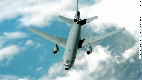 A KC-10A Extender tanker/transport aircraft is shown in this undated photo.