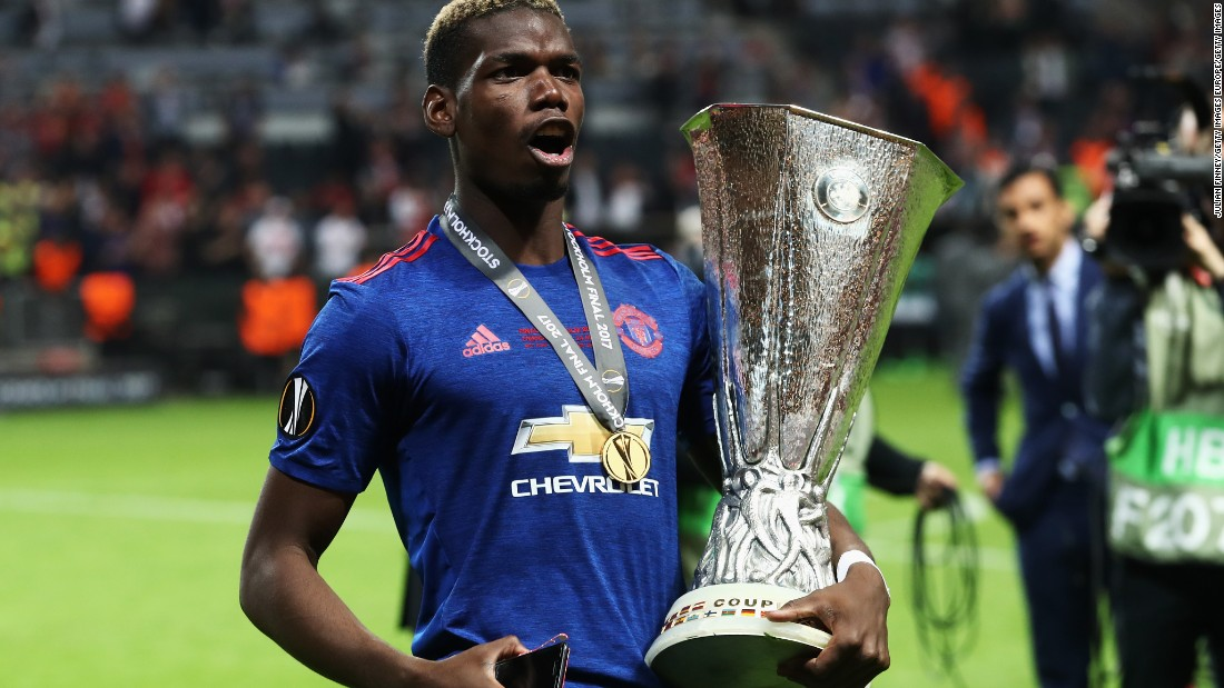 In his first season with United, he scored five Premier League goals and helped the club win three trophies -- the Europa League, the League Cup and Charity Shield.