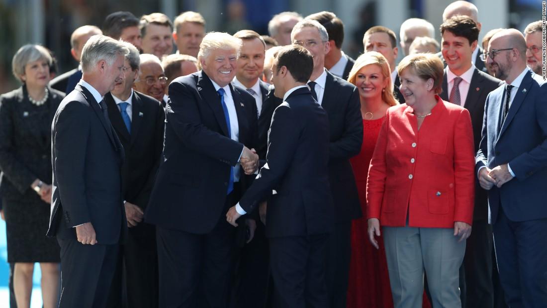 Slikovni rezultat za nato summit in bruxelles macron