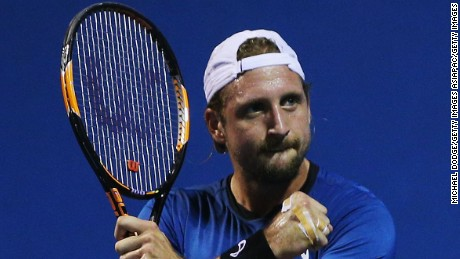 MELBOURNE, AUSTRALIA - JANUARY 13:  Tennys Sandgren of the USA celebrates his win against Yasutaka Uchiyama of Japan during 2016 Australian Open Qualifying  at Melbourne Park on January 13, 2016 in Melbourne, Australia.  (Photo by Michael Dodge/Getty Images)