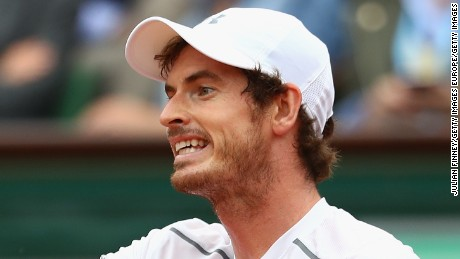 PARIS, FRANCE - JUNE 05:  Andy Murray of Great Britain reacts during the Men's Singles final match against Novak Djokovic of Serbia on day fifteen of the 2016 French Open at Roland Garros on June 5, 2016 in Paris, France.  (Photo by Julian Finney/Getty Images)