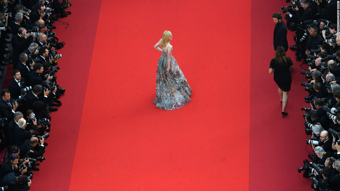 "Actress Elle Fanning walks the red carpet at the Cannes Film Festival in France on Tuesday, May 23. <a href=""http://www.cnn.com/2017/05/25/fashion/gallery/cannes-red-carpet-history/index.html"" target=""_blank"">See the most memorable red-carpet moments at Cannes</a>"