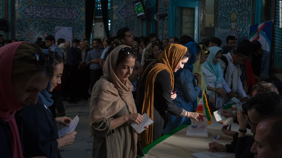 "Voters in Tehran, Iran, cast their ballots in the presidential election on Friday, May 19. Iranian President Hassan Rouhani <a href=""http://www.cnn.com/2017/05/20/middleeast/iran-rouhani-election/"" target=""_blank"">handily won re-election</a> in what amounts to a victory for the nation's reformist camp -- and a sign that citizens favor fruitful engagement with the outside world."